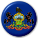 Pennsylvania State Flag 25mm Pin Button Badge
